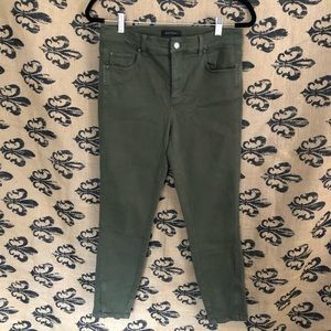 Ann Taylor Olive Green The Skinny Crop Pants